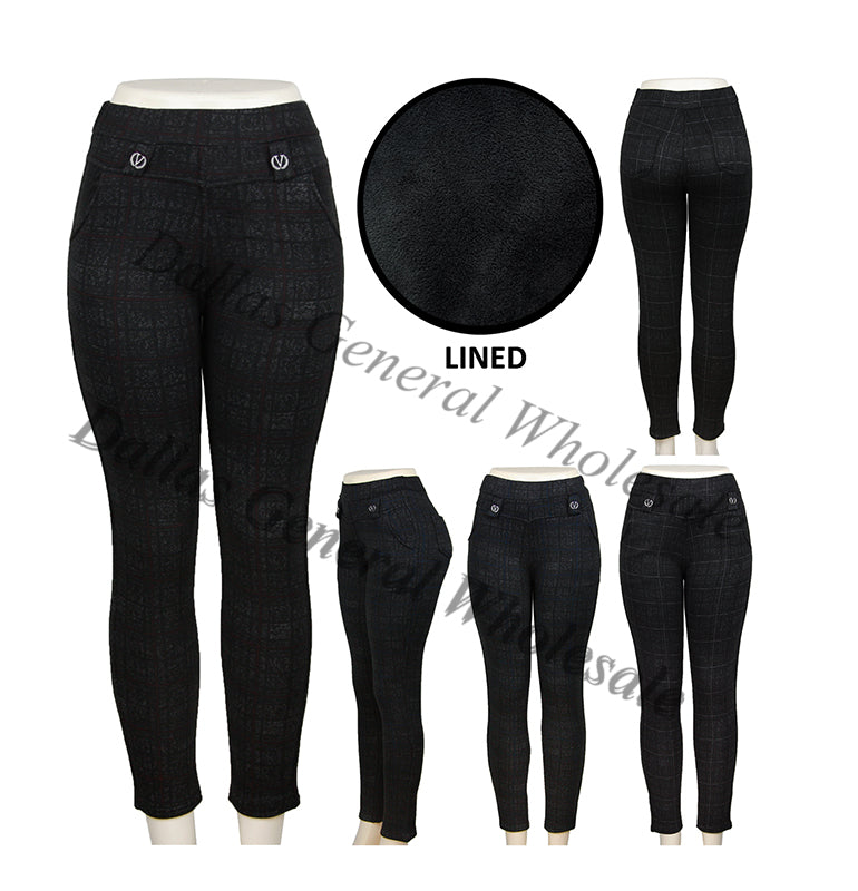 Ladies Fleece Lining Thermal Trousers Pants Wholesale