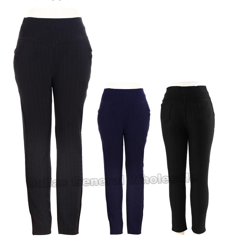 Ladies Fur Lining Thermal Pants Wholesale - Dallas General Wholesale