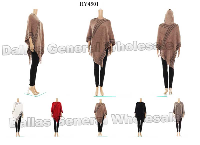 Women Cape Poncho with Hood Wholesale - Dallas General Wholesale