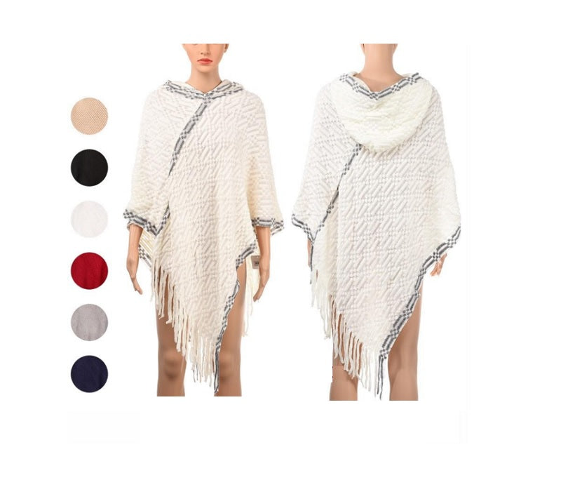 Ladies Sweater Poncho with Hood Wholesale - Dallas General Wholesale
