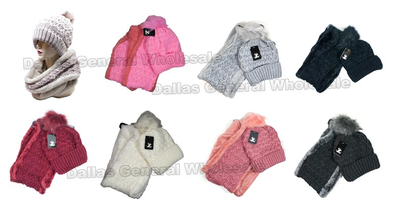 Ladies Thermal Beanie w/ Circle Scarf Gift Set Wholesale - Dallas General Wholesale