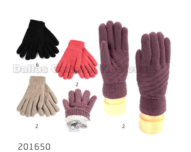 Ladies Cute Insulated Winter Gloves Wholesale - Dallas General Wholesale
