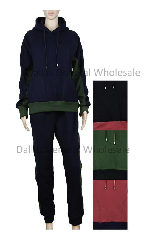 Ladies Fleece Lining Casual Jogger Set Wholesale