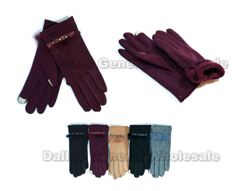 Ladies Fashion Thermal Gloves Wholesale - Dallas General Wholesale