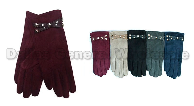 Ladies Fashion Studded Gloves Wholesale - Dallas General Wholesale