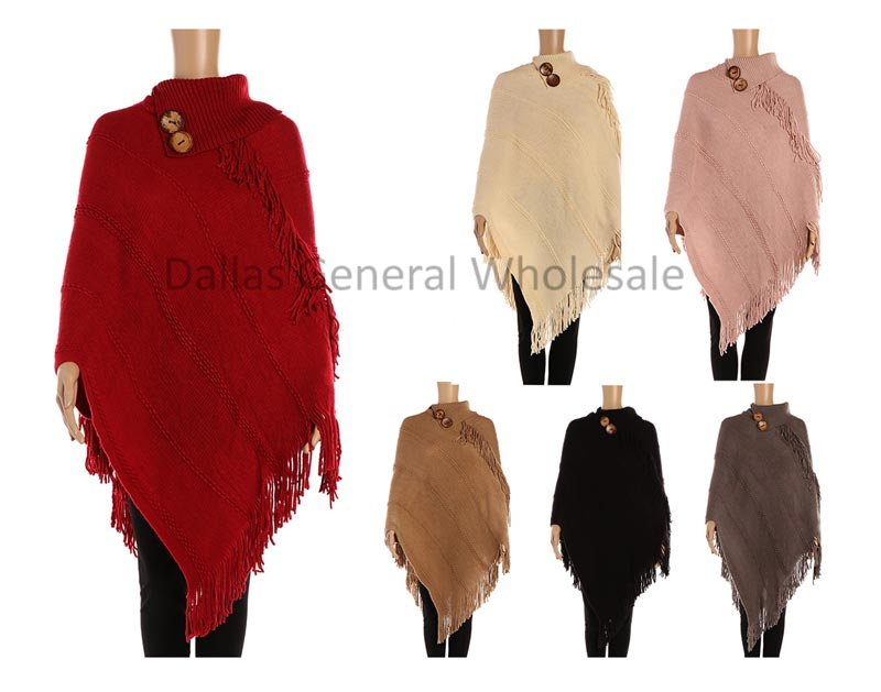 Ladies Cute Turtle Neck Sweater Ponchos Wholesale