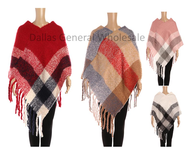 Ladies Fashion Soft Sweater Ponchos Wholesale