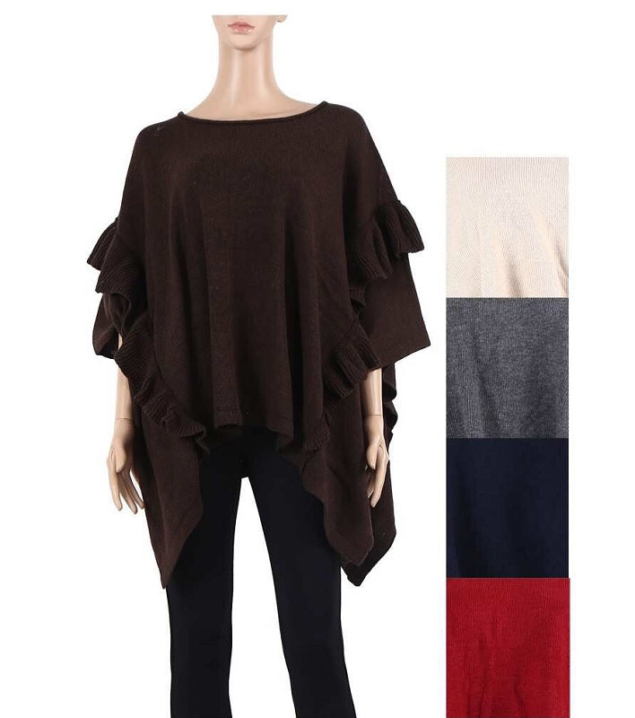 Ladies Sweater Ponchos Wholesale - Dallas General Wholesale