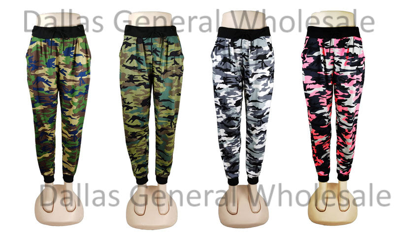 Girls Camouflage Track Pants Wholesale