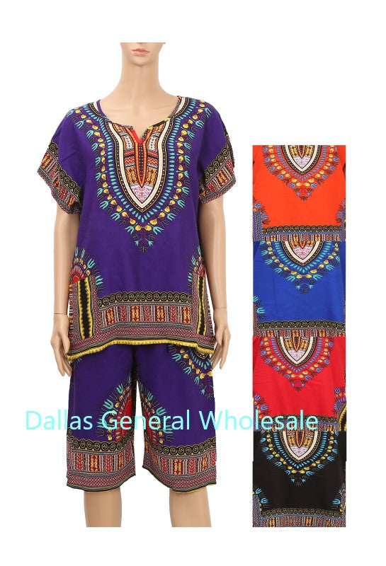 Dashiki Top w/ Shorts Set Wholesale - Dallas General Wholesale