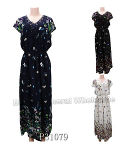 Maxi Sun Dresses with Sleeves Wholesale - Dallas General Wholesale