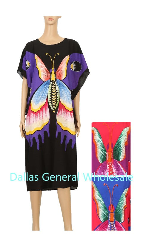 Ladies Summer Butterfly Dresses Wholesale
