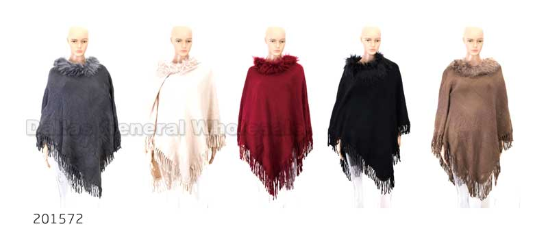 Winter Sweater Ponchos Wholesale - Dallas General Wholesale