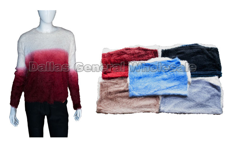 Rich Color Fade Sweater Wholesale - Dallas General Wholesale