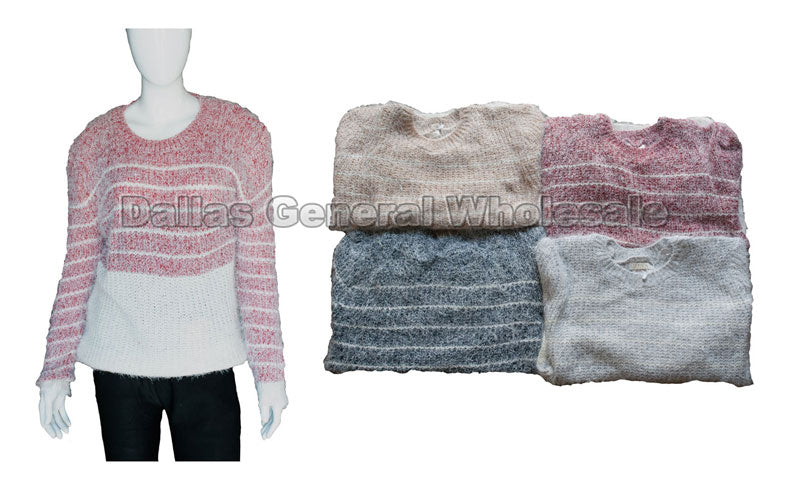 Duo Color Striped Sweater Wholesale - Dallas General Wholesale