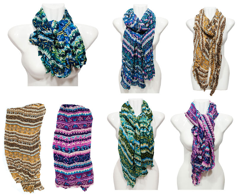 Ladies Printed Fall / Spring Scarves Wholesale - Dallas General Wholesale
