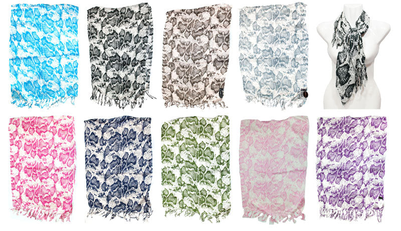 Ladies Printed Fashion Fall / Spring Scarves Wholesale - Dallas General Wholesale