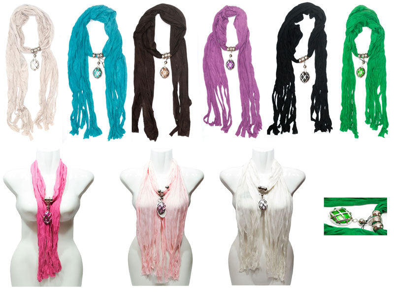 Ladies Pendants Fashion Scarf Wholesale - Dallas General Wholesale