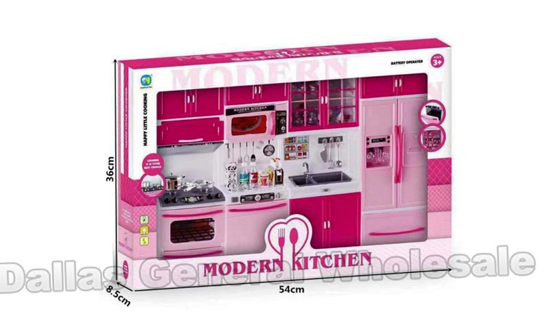 4 Set Modern Kitchen Pretend Play Toy Wholesale - Dallas General Wholesale