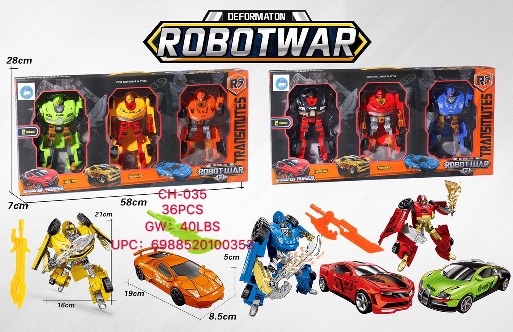 Deforming Toy Robot Cars Toy Wholesale - Dallas General Wholesale