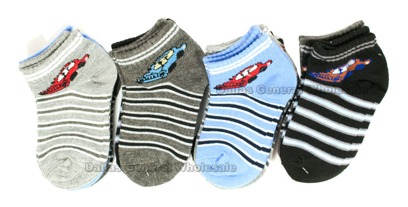 Little Boys Cars Casual Socks Wholesale - Dallas General Wholesale