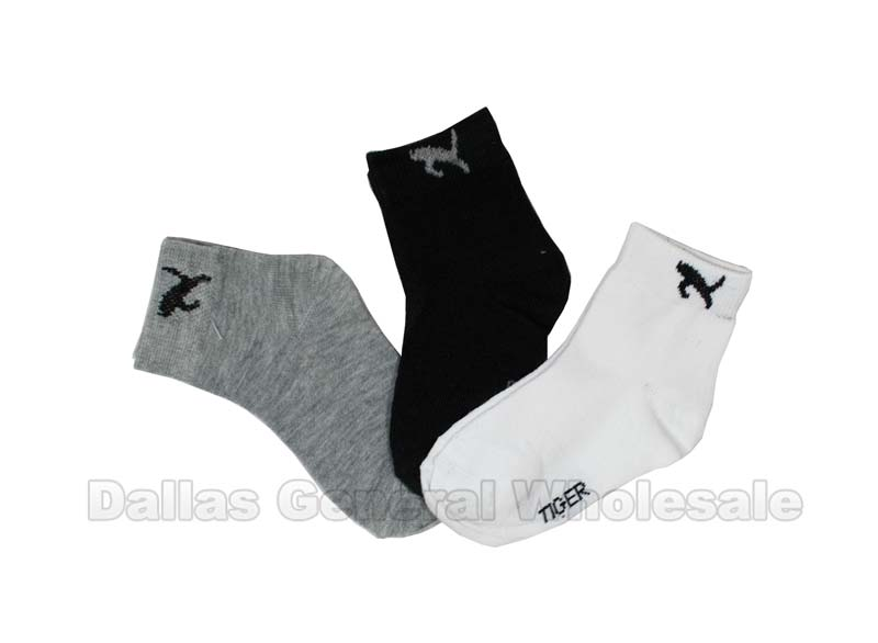 Boys Tiger Ankle Socks Wholesale - Dallas General Wholesale