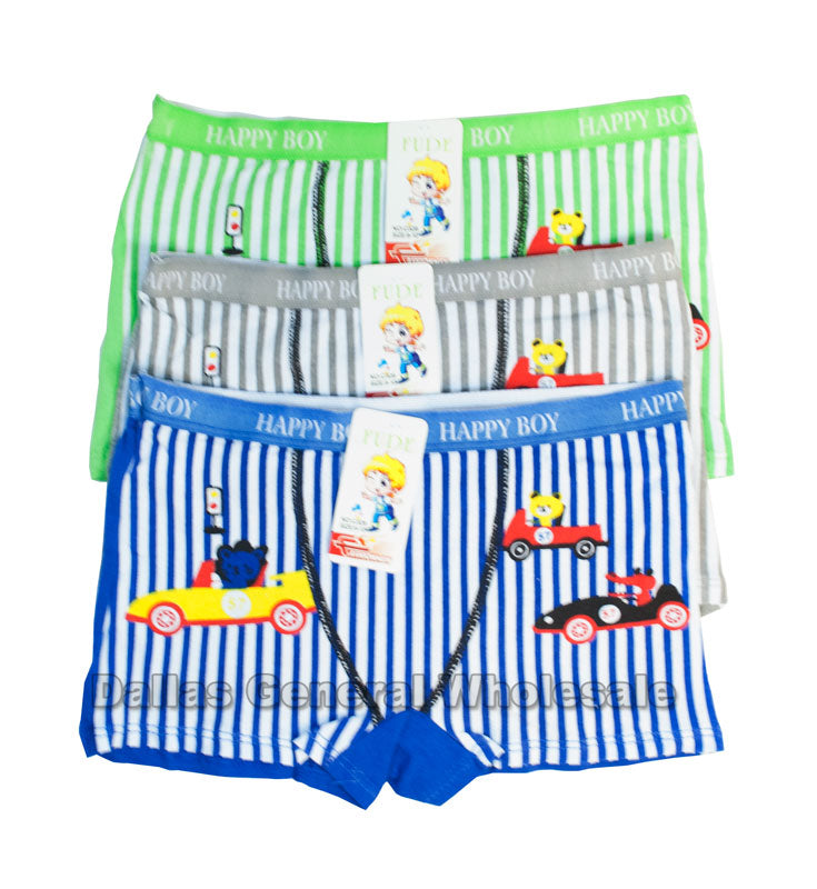 5PC Boys Car Briefs C326 Wholesale - Dallas General Wholesale