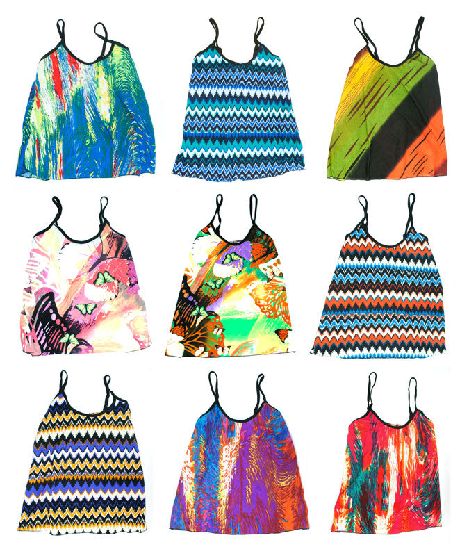 Little Girls Printed Summer Tops Wholesale - Dallas General Wholesale