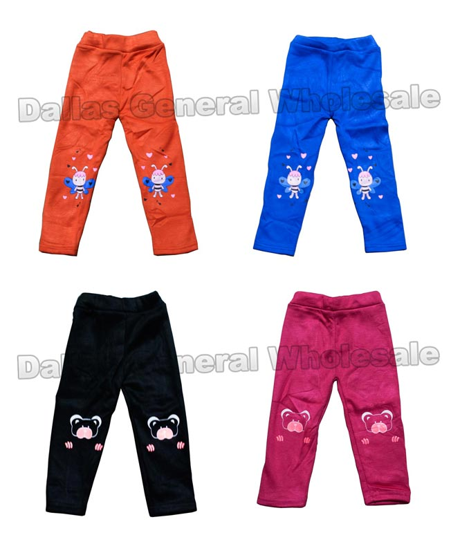 Little Girls Winter Fur Insulated Leggings Wholesale - Dallas General Wholesale