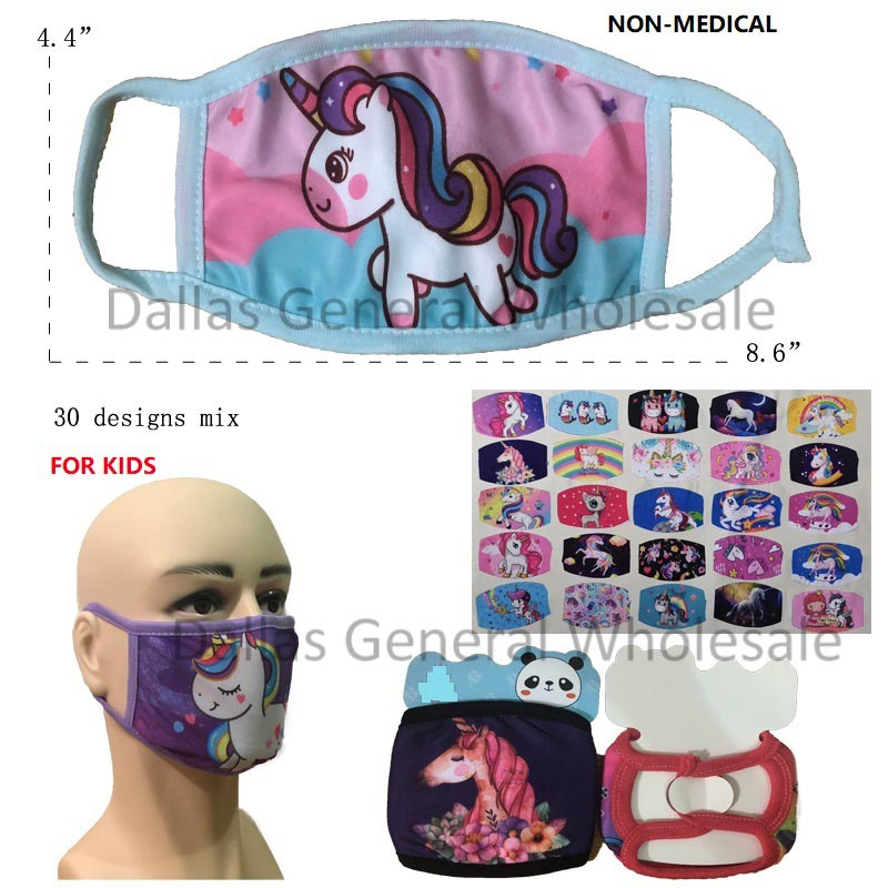 Little Girls Unicorns Masks Wholesale