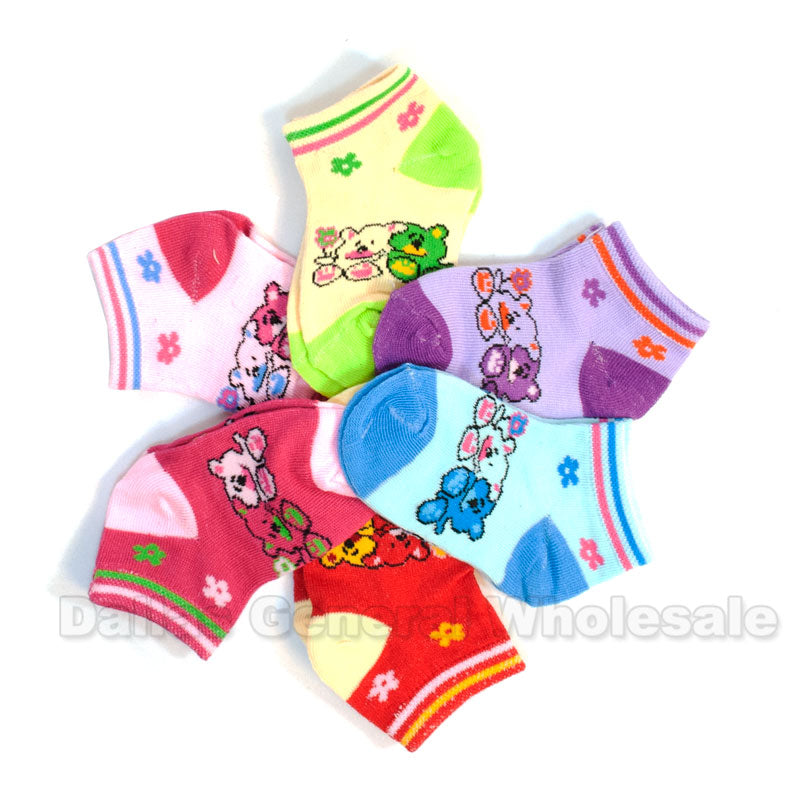 Girls Bears Cute Ankle Socks Wholesale - Dallas General Wholesale