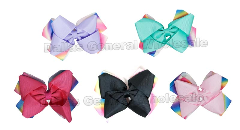 Double Layer Ribbon Hair Bows Wholesale - Dallas General Wholesale