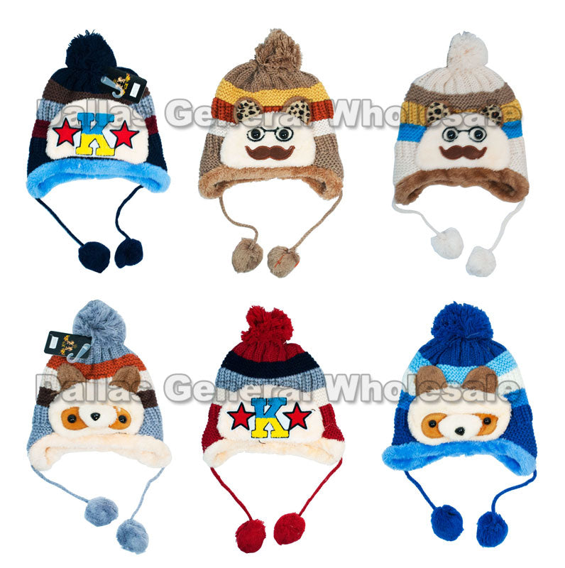 Boys Thermal Toboggan Beanie Hats Wholesale - Dallas General Wholesale