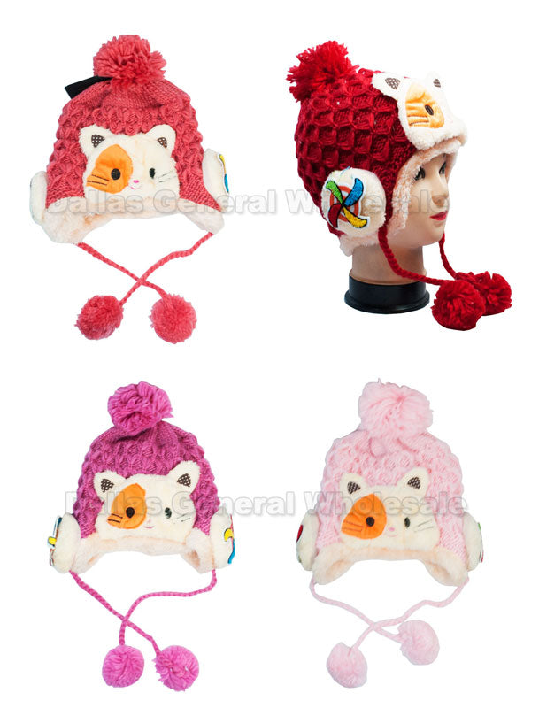 Little Girls Fur Toboggan Beanie Hats Wholesale - Dallas General Wholesale