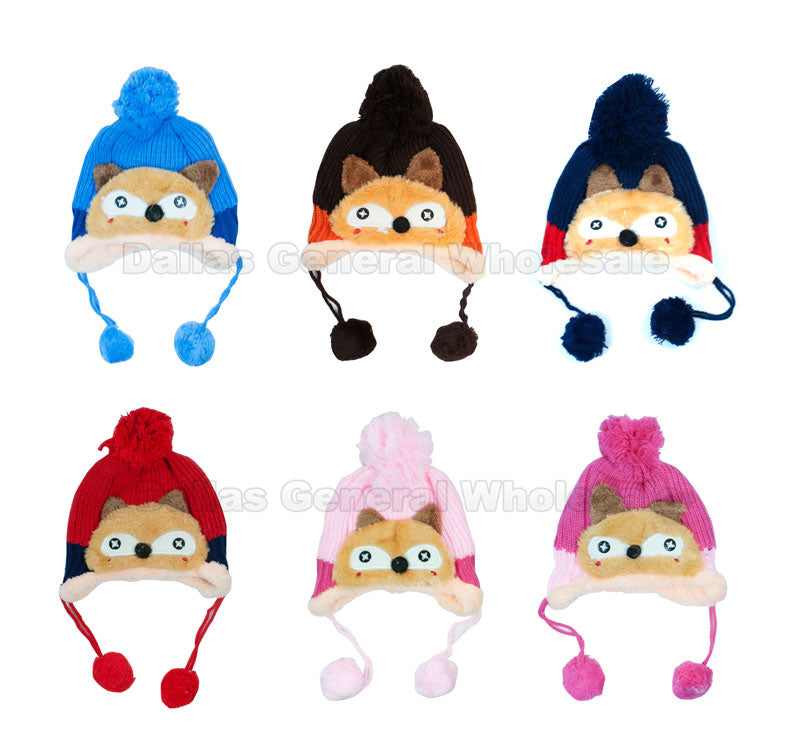 Kids Fleece Lining Toboggan Beanie Hats Wholesale - Dallas General Wholesale