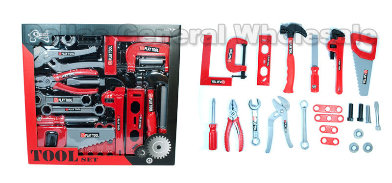 23 PC Toy Hand Tools Play Set Wholesale - Dallas General Wholesale