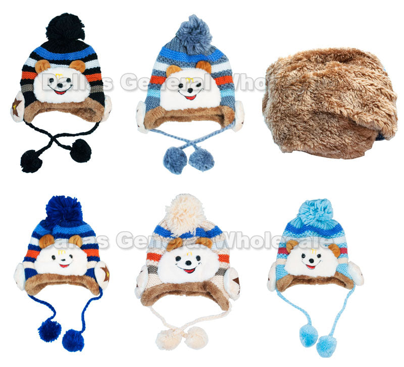 Little Boys Fur Toboggan Beanie Hats Wholesale - Dallas General Wholesale
