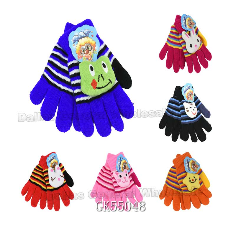 Little Kids 3D Carton Gloves Wholesale - Dallas General Wholesale