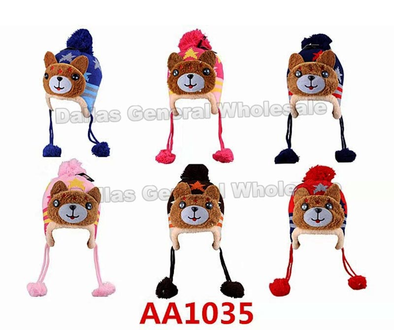 Kids Fur Lining Toboggan Beanie Hats Wholesale - Dallas General Wholesale