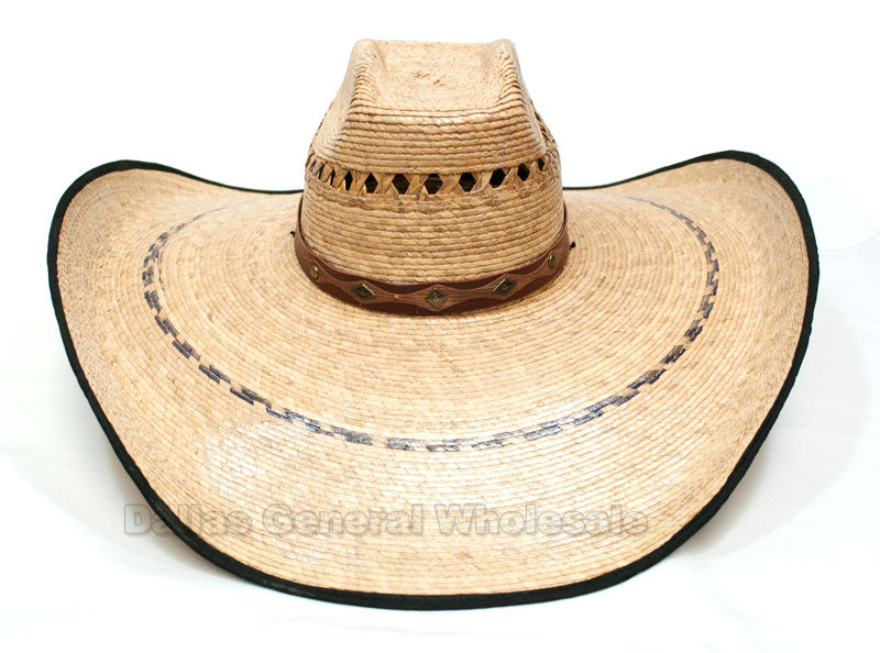 Large Vented Straw Sombrero Hats Wholesale - Dallas General Wholesale