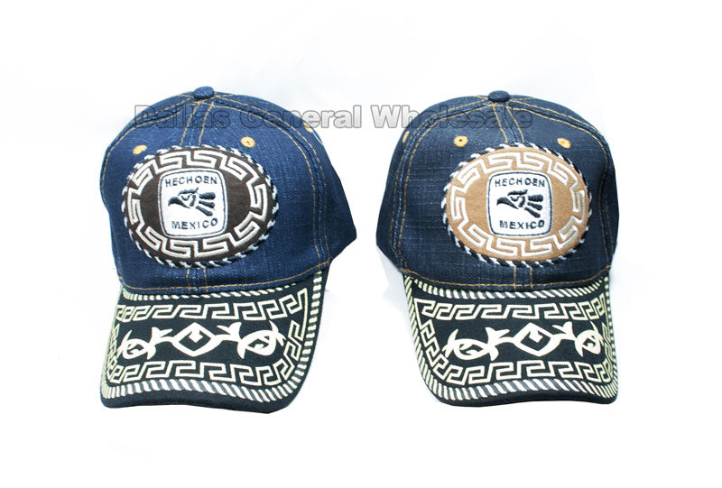 """Hecho En Mexico"" Casual Denim Caps Wholesale - Dallas General Wholesale"