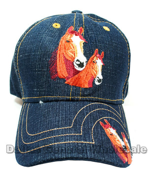 """Horses"" Denim Casual Caps Wholesale - Dallas General Wholesale"