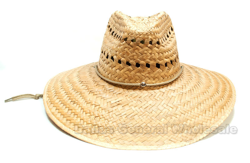 Vented Summer Sombrero Straw Hats Wholesale - Dallas General Wholesale