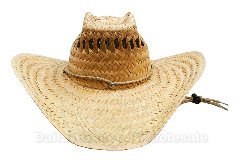 Summer Vented Straw Sombrero Hats Wholesale - Dallas General Wholesale