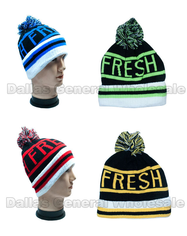 Adults Knitted Skull Beanie Caps Wholesale - Dallas General Wholesale