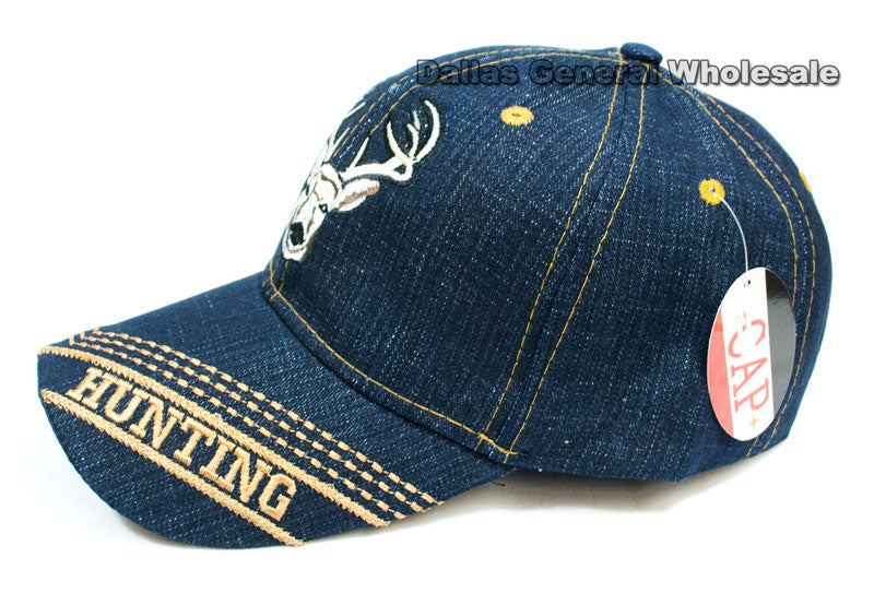 Deer Design Fashion Jeans Caps Wholesale - Dallas General Wholesale
