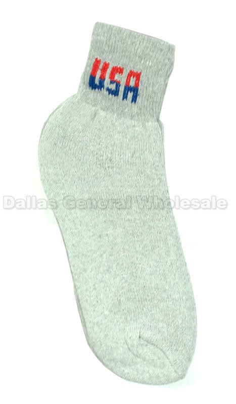 Men USA Casual Ankle Socks Wholesale - Dallas General Wholesale