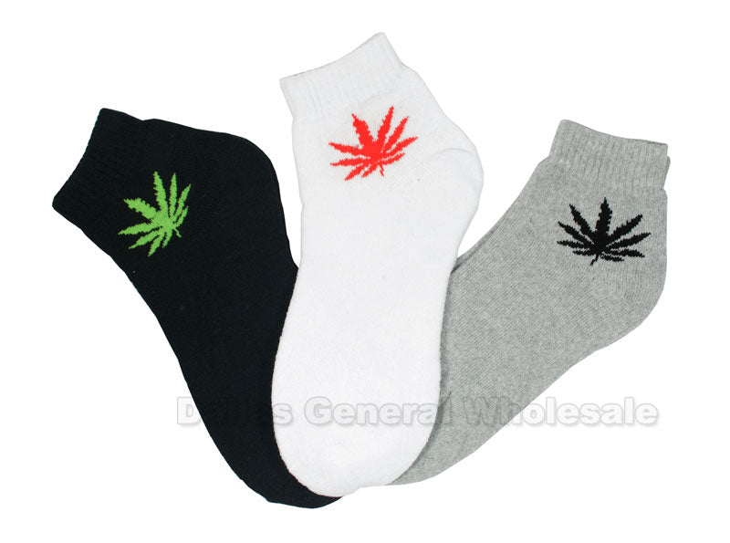 Men Fashion Marijuana Ankle Socks Wholesale - Dallas General Wholesale