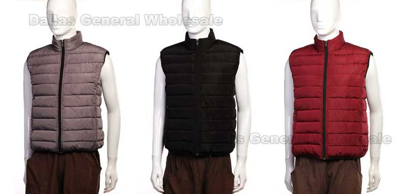 Men Winter Padded Vests Wholesale - Dallas General Wholesale