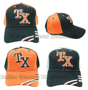 """Texas"" Casual Baseball Caps Wholesale - Dallas General Wholesale"